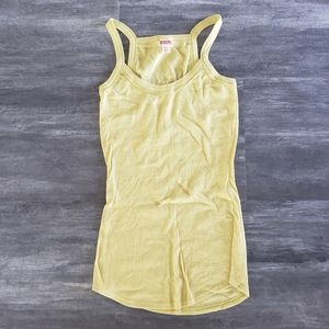 Muted Yellow Detailed Mossimo Long Tank